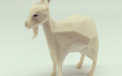 Low poly goat