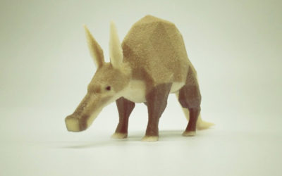 Low poly aardvark