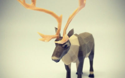 Low poly caribou