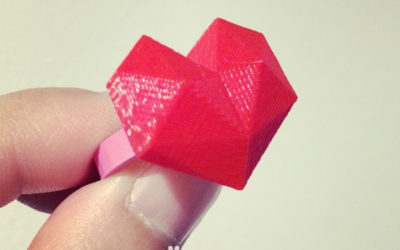 Lowpoly heart ring